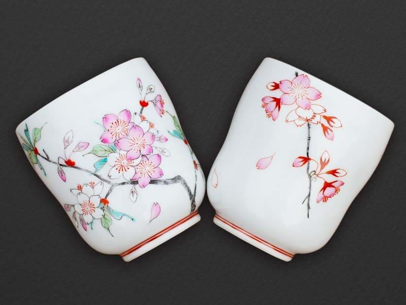 桜のペア湯呑